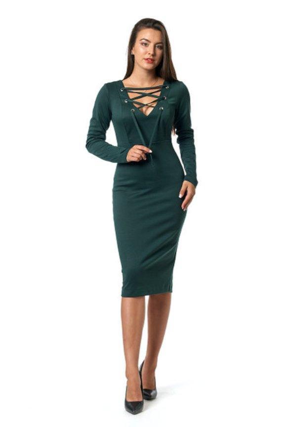 Платье женское темно-зеленое