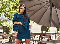 Молодежное платье с воланами ,разные цвета