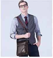 Мужская кожаная сумка. Модель 63176, фото 7