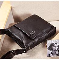 Мужская кожаная сумка. Модель 63176, фото 6