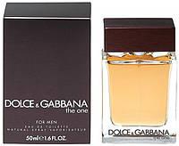 Мужская туалетная вода Dolce&Gabbana The One (благородный древесно-пряный аромат)