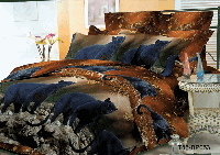 """Комплект постельного белья Евро двуспальный, п/э 3D """"Пантера"""""""