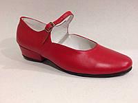 Туфли для танцев каблук 2,5см (пионерский)