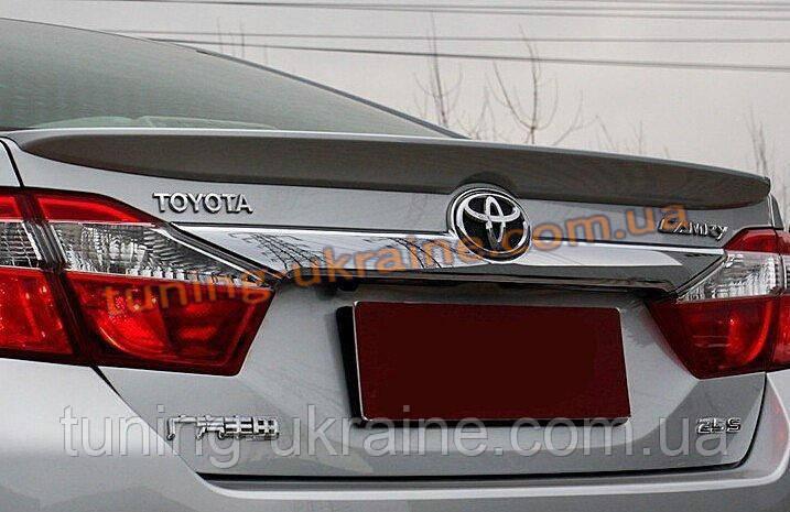 Спойлер-сабля из АБС пластика на Toyota Camry XV50 2011-2014 - ООО Tuning Avto в Харькове