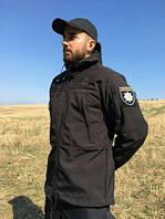 Куртка демісезонна Soft shell чорна
