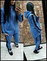 Женский Спортивный костюм с капюшоном на флисе