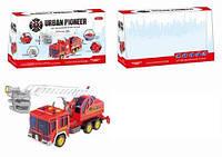 Машина пожарная инерционная , свет, звук, в коробке 38,0*15,0*22,0 см