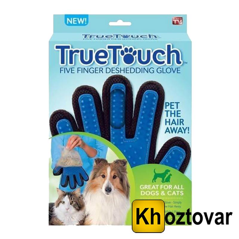 Перчатка для вычесывания шерсти домашних животных True Touch Glove - Интернет-магазин Khoztovar.com.ua в Одессе