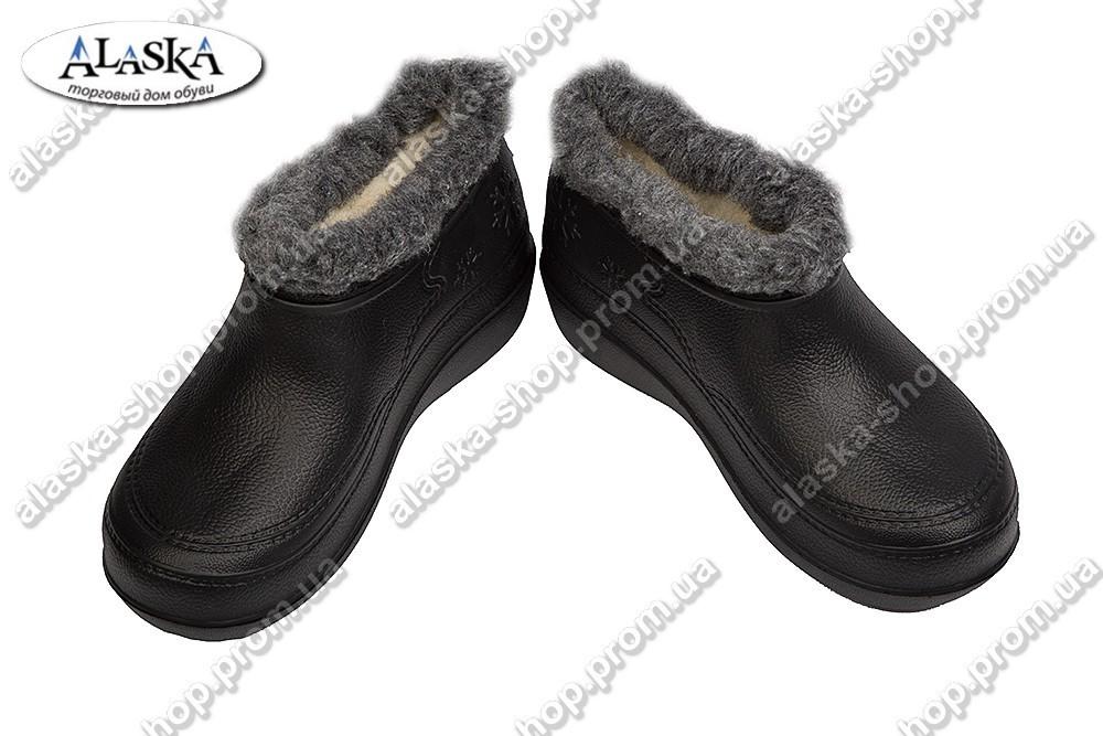 Женские галоши (Код: TS снеж черный)