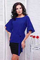 Женская блуза Louise электрик Fashion UP 42-52 размеры