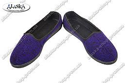 Женские тапочки (Код: ТЖ-02 фиолет)
