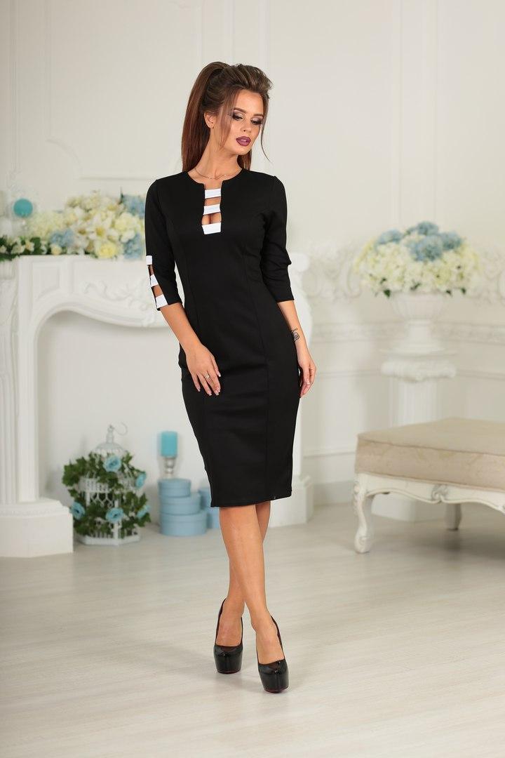 1859f24cc59 Черное классическое платье французской длины  продажа