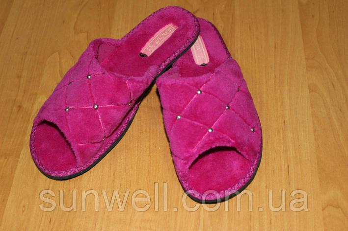 Женские домашние тапочки Белста с открытым носком махра р-р 40, фото 2