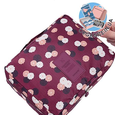 Дорожная косметичка с отстегивающимся кармашком Monopoly Travel (Daisy Purple) реплика