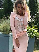 Ангоровый костюм с юбкой Цвета 130 HD, фото 1