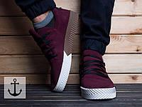 Кроссовки Adidas Alexander Wang (Адидас Александр Ванг) бордового цвета
