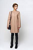 Молодежное женское пальто демисезон капучино