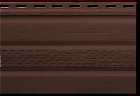 Карнизная подшивка Софит коричневый с перфорацией