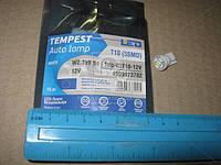 Лампа LED (tmp-03T10-12V) б/ц габарит и панель приборов T10-5SMD W2.1x9.5d 12V WHITE<TEMPEST>