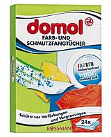 Салфетки для предотвращения случайной окраски тканей при стирке Domol 24 шт