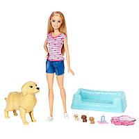 Кукла Барби и собака с новорожденными щенками / Barbie Newborn Pups Doll & Pets