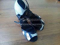 Туфли для танцев  женские Латина кожа 24р(38р) 5 см каблук.
