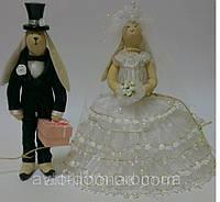 Интерьерная Тильда Кролики, Свадебная парочка, фото 1