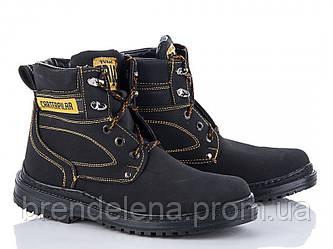 Чоловічі чорні високі зимові черевики р (40)