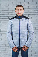 Куртка мужская демисезонная светло-серая(44-60)