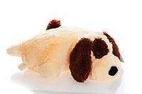 Подушка собачка Шарик 45 см (45х40х12) персиковый
