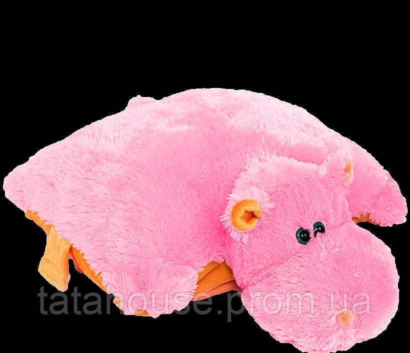 Подушка Бегемот 55 см(55х50х15) розовый