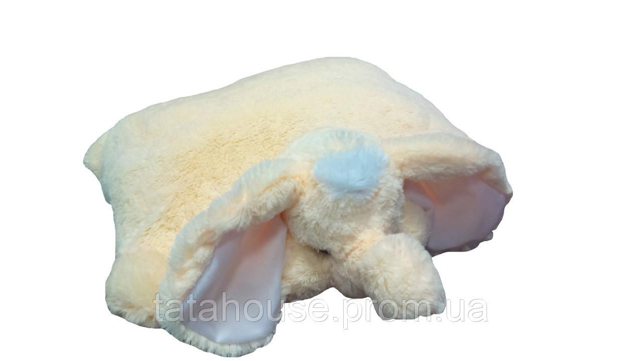 Подушка-игрушка Слон 55 см(55х50х15) персиковый