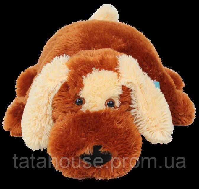 Подушка собачка Шарик 45 см (45х40х12)коричневый, фото 1