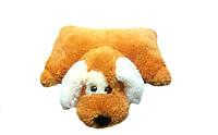 Подушка собачка Шарик 45 см(45х40х12) медовый