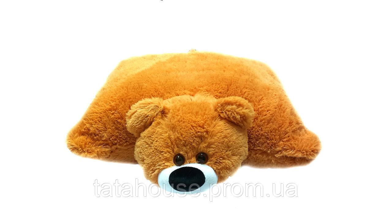Подушка-игрушка мишка 45 см(45х40х12) медовая