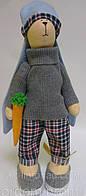 ИнтерьернаяТильда Модный заяц с морковкой, фото 1