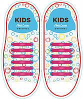 Шнурки силиконовые для обуви AntiLaces Kids Розовый 38мм, KP38