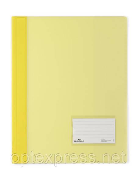 Папка-скоросшиватель с карманчиком для визитки  DURABLE 2580
