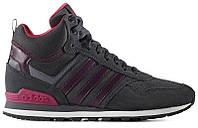 Женские высокие кроссовки Adidas 10XT WTR MID Grey Purple (адидас 10 ХТ) серые