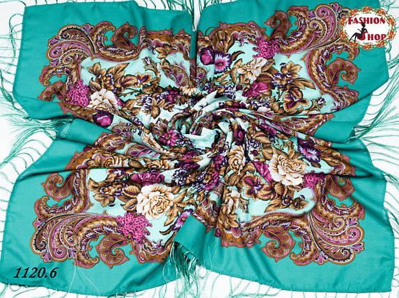 Павлопосадский шерстяной платок Даниэлла, фото 2