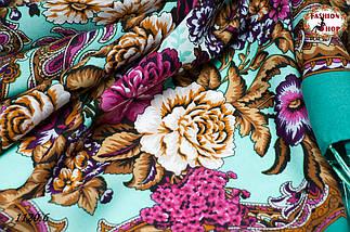 Павлопосадский шерстяной платок Даниэлла, фото 3