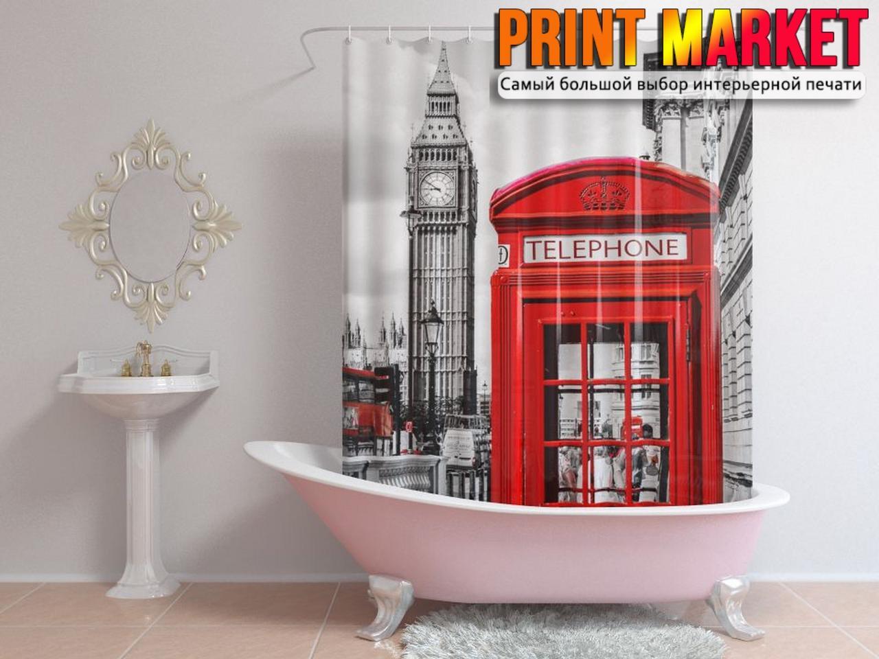 Шторы для ванной Лондон 3Д