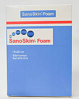 Медицинская абсорбирующая губка Sano Skin Foam 15x20см