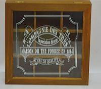 Шкатулка для чая деревянная (24*24*7 см)