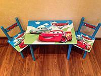 Детский столик со стульями для мальчика Тачки