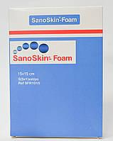 Медицинская абсорбирующая губка Sano Skin Foam 15x15см