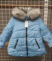 Теплая качественная куртка девочка Мира,134-152рр