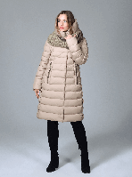 Пуховик зимний женский с шарфом, фото 1