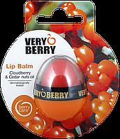 """Бальзам для губ с морошкой и кедровым маслом от ТМ """" Verry Berry"""" , 11ю5г"""