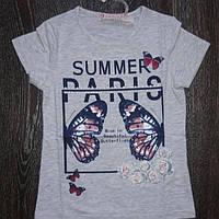 Летняя футболка для девочки 6 лет